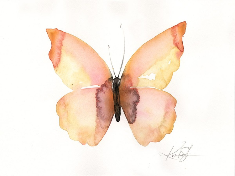 Watercolor Butterfly 8 - Abstract Butterfly Watercolor Painting - Image 0