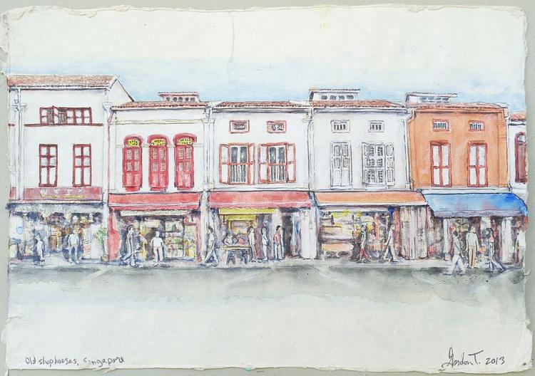 Old Shophouses, Singapore - Image 0