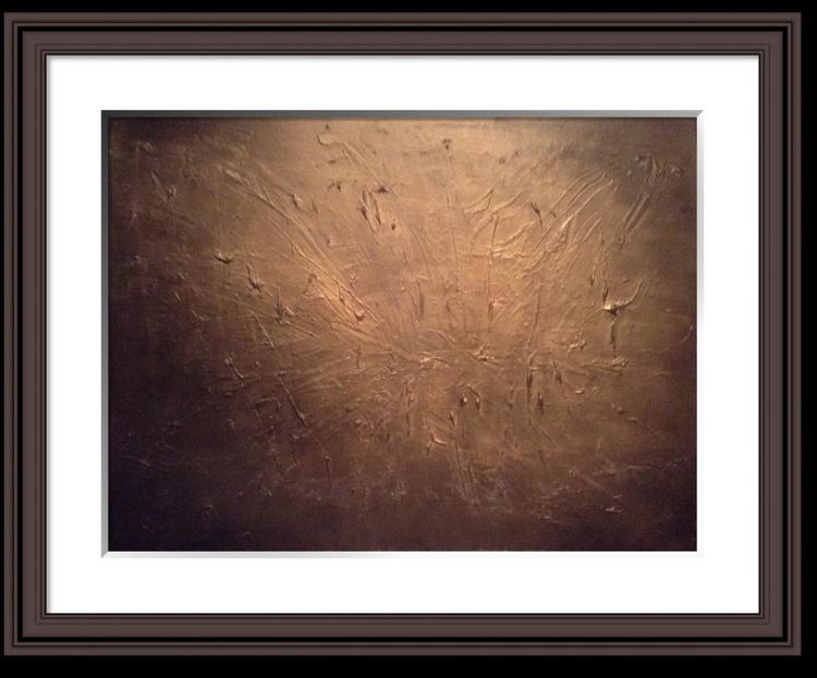 """""""Burnished Gold"""" 80x60 cms  acrylic on box canvas - Image 0"""