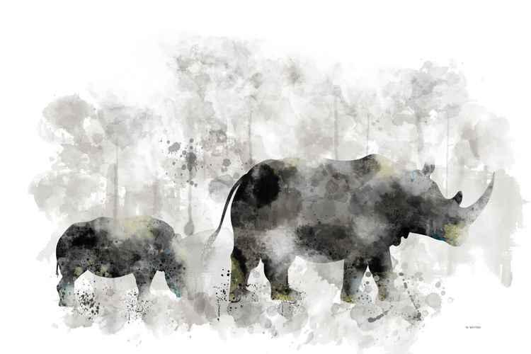 Rhino and Calf -