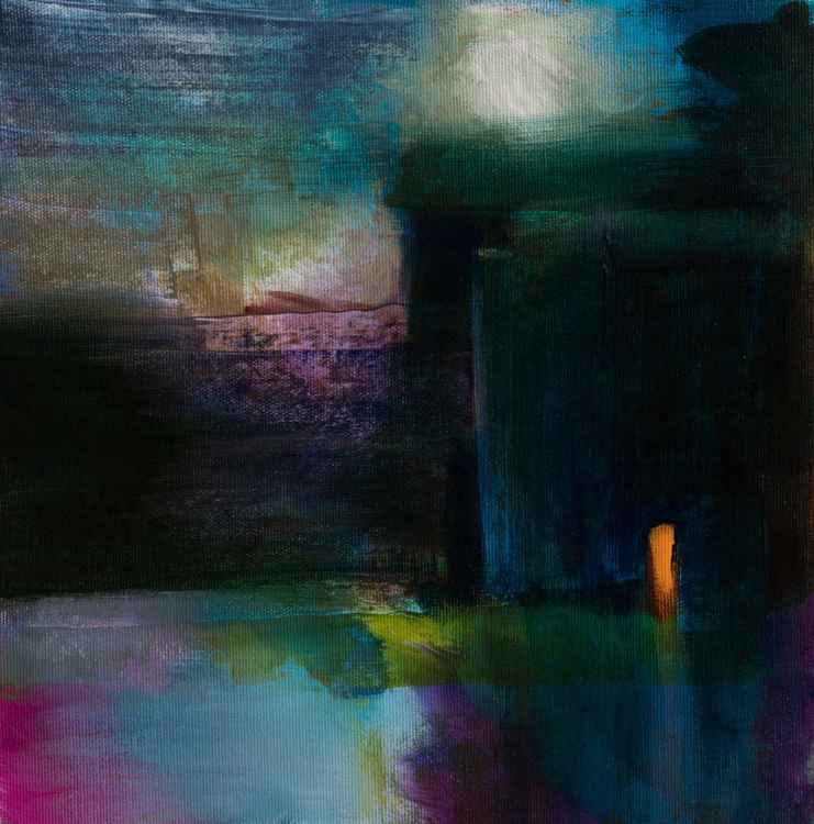 Night scene - nocturnal landscape  30X30cm -
