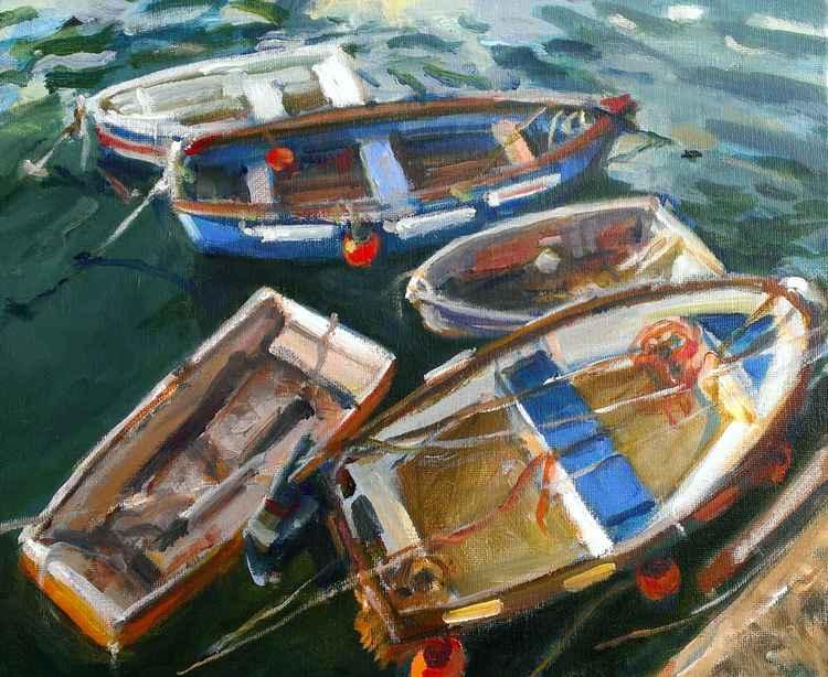 Five boats -