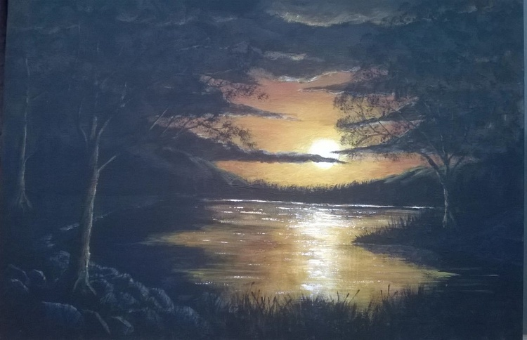 Across The Lake at Sunset - Image 0