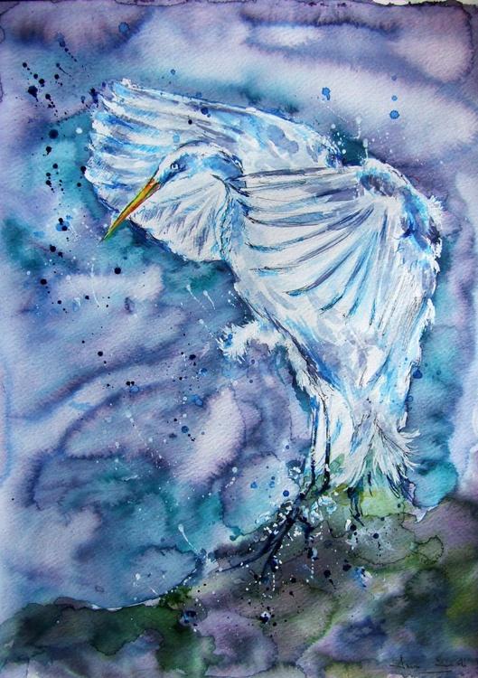 Heron / Watercolour - Image 0