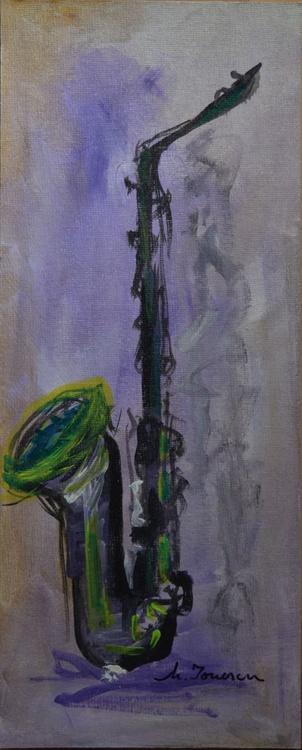"""""""Green Saxophone"""" - Image 0"""
