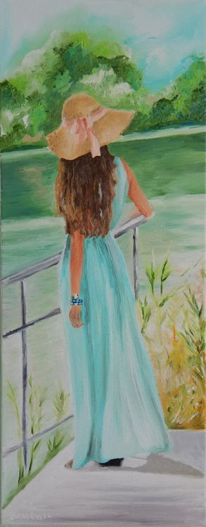 """''I remember you""""-oil on canvas painting woman - Image 0"""