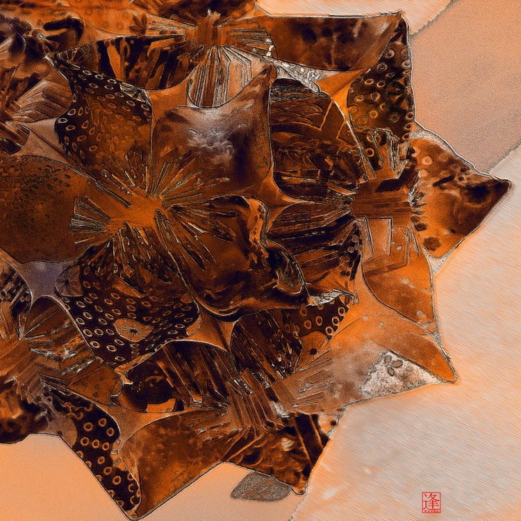 Origami Planet For Little Prince - Monoprint - Image 0