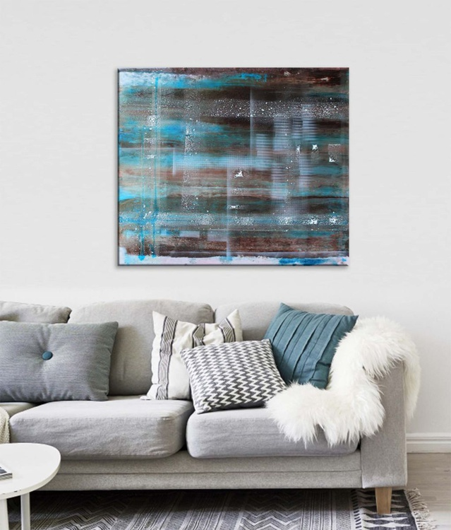 FUSION I - Abstract Acrylic & Resin Painting 3D Effect - Image 0