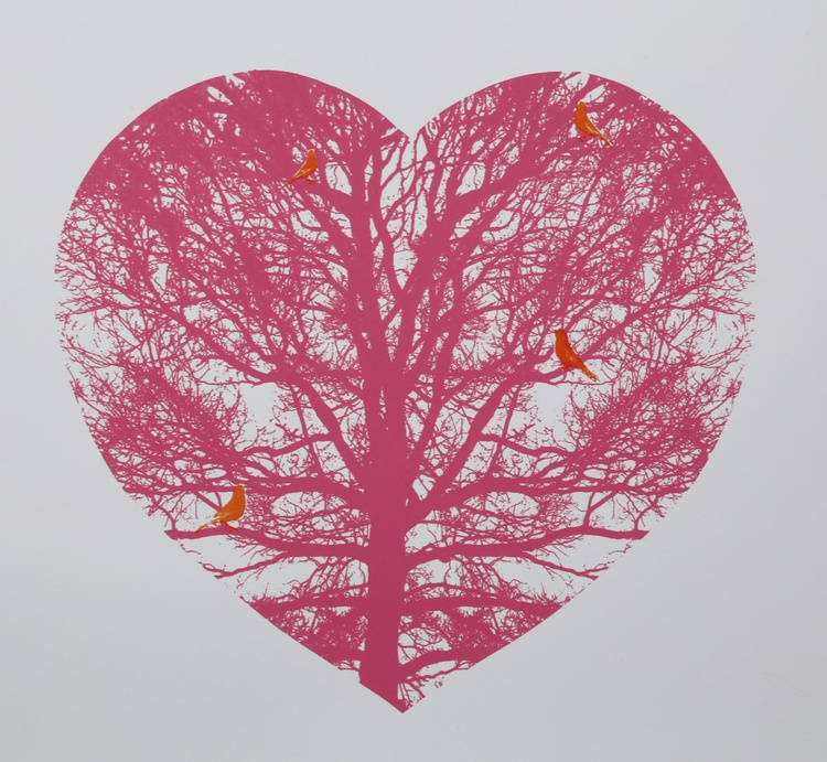 'Who Ever Lov'd that loved not at first Sight?' (orange birds) - Image 0