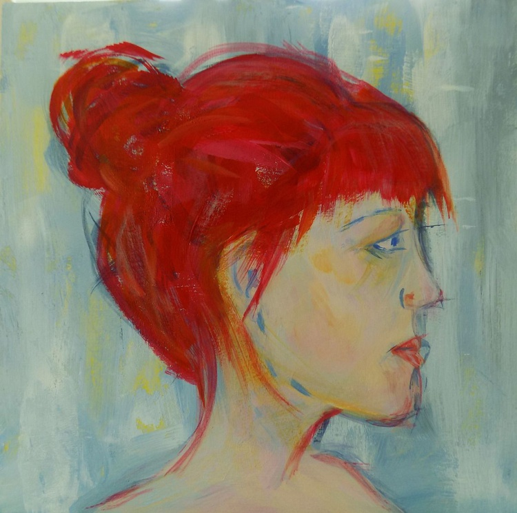 Head Study in Red - Image 0