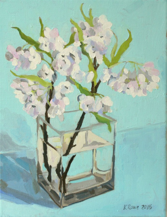 Apple blossom oil sketch - Image 0