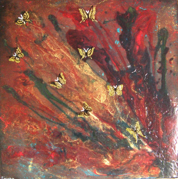 Tiny Gold Butterflies - Image 0
