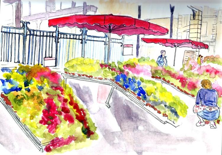 Images of France - Flower Market at Heart of the Bastide! - Image 0