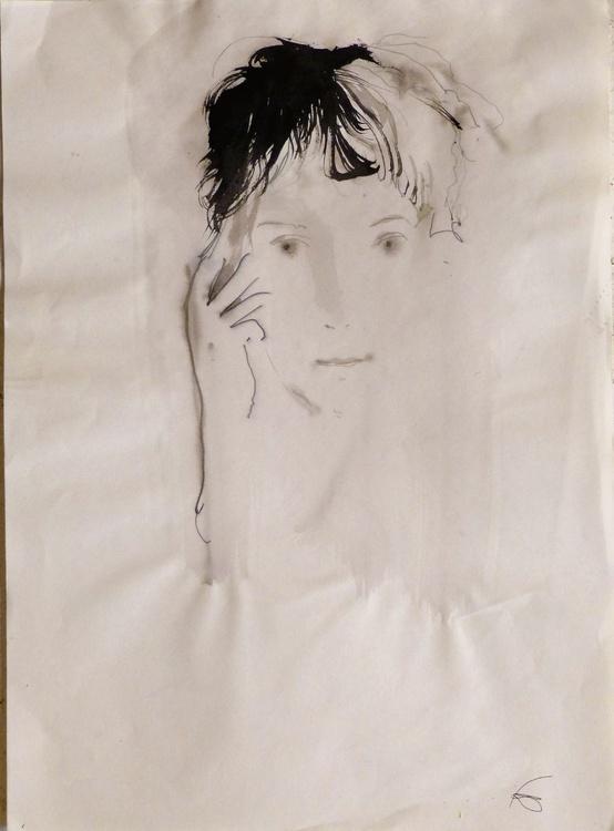 Portrait , 29x42 cm - Image 0