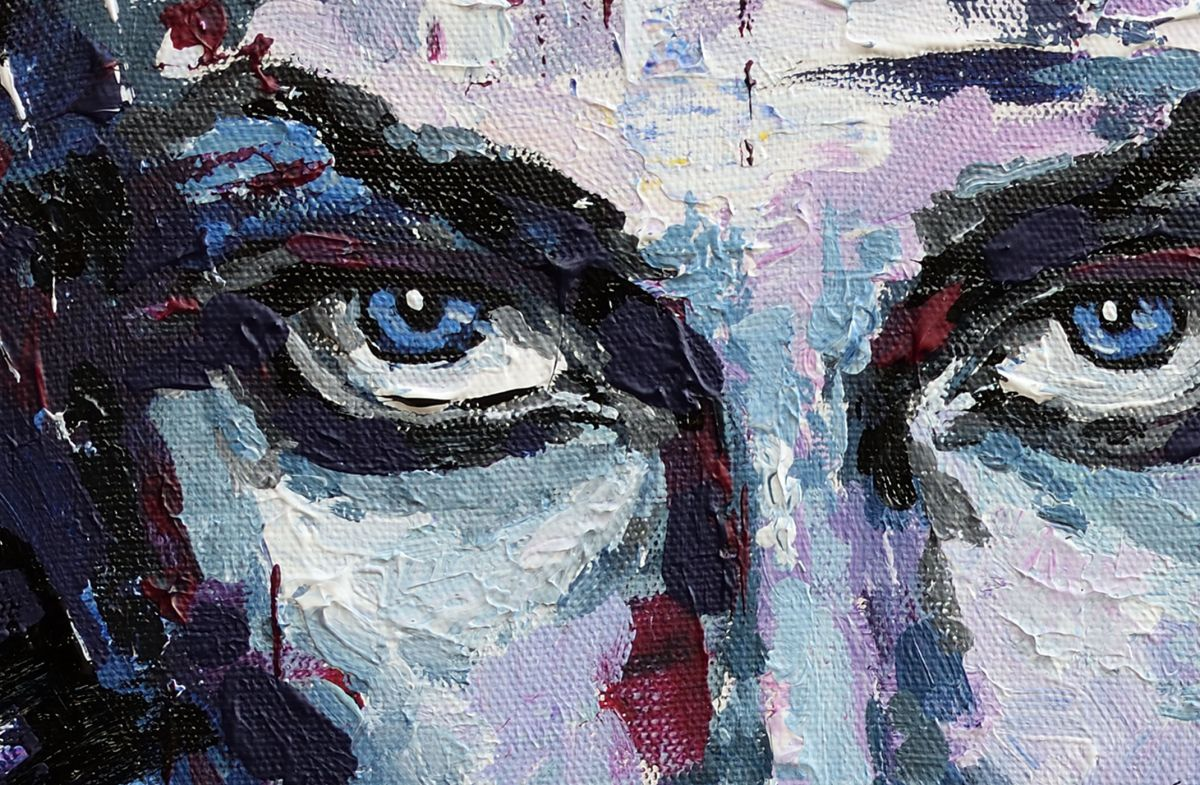 Woman face painting (2016) Acrylic painting by Anastasiya ...