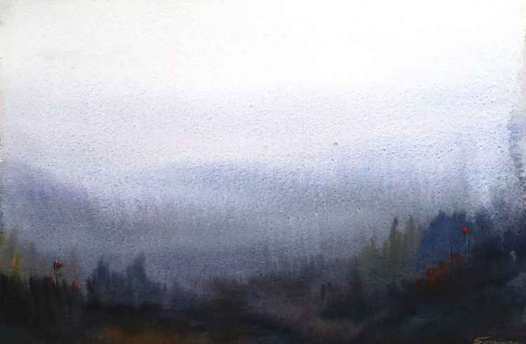 Mystery Himalaya - Watercolor on Paper -