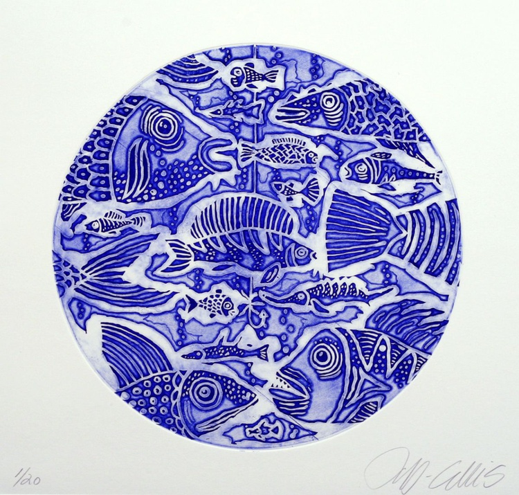 Hook Line and Sinker, relief etching - Image 0