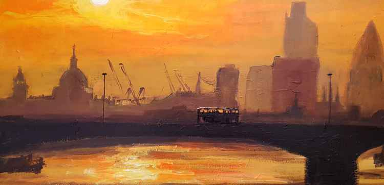 City of London Skyline, Sunset