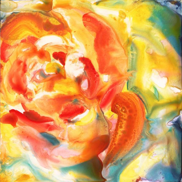 Yellow Rose Original Watercolor Painting - Image 0