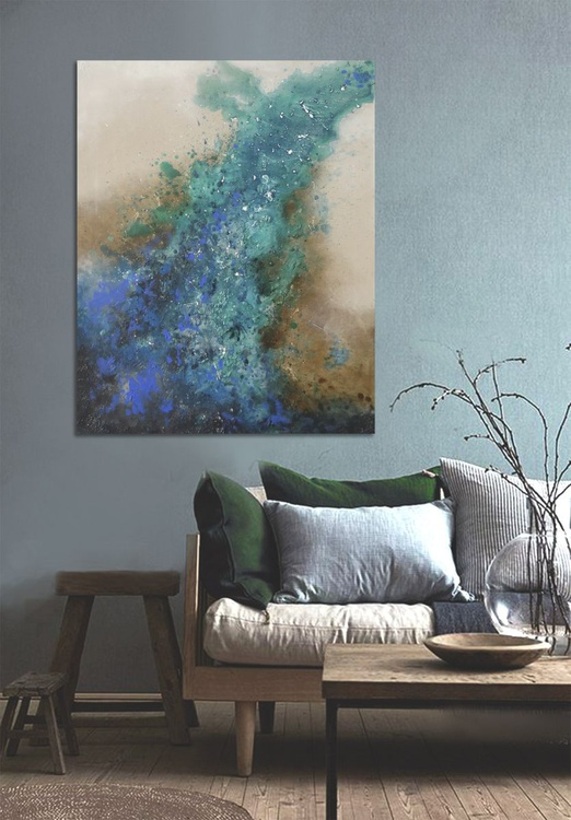 raw metallic green (100 x 80 cm) - Image 0