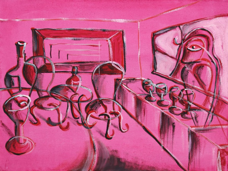 Closing Time at the Hot Pink Transparent Cafe - Image 0