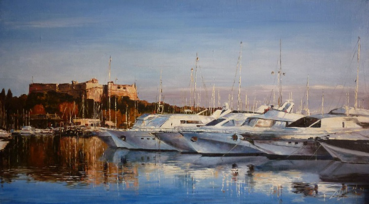Corsica - Yachts in the Harbour, Evening. - Image 0