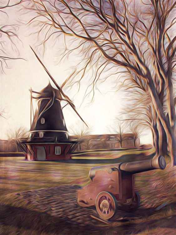 Windmill and Cannon -