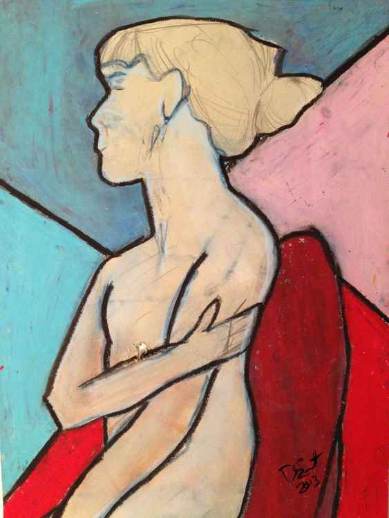 Study of a female nude (mastectomy) III