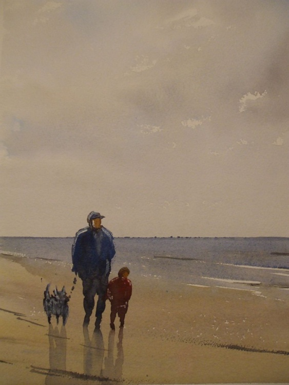 Walking with Dad. - Image 0
