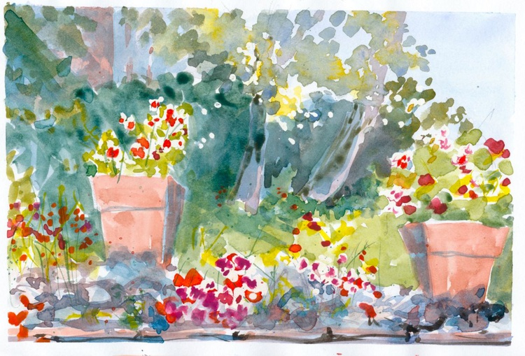 Italian Flower Garden 1 - Image 0