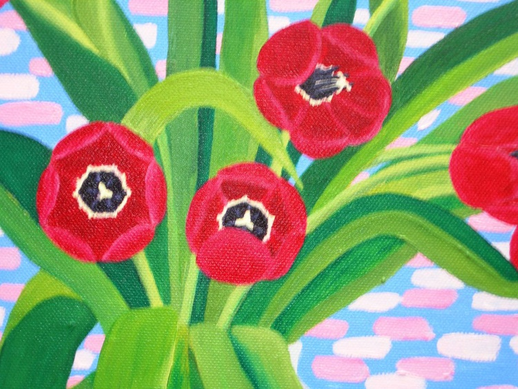 Still life with Red Tulips - Image 0