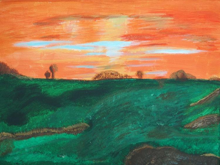 Sunset Over Moorland - Image 0