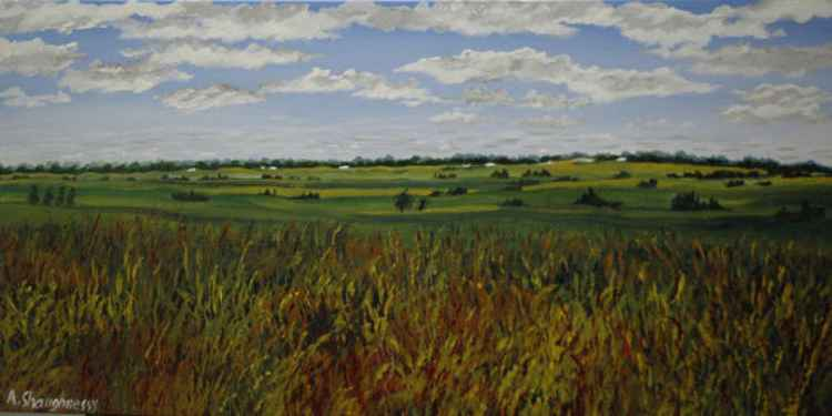 Country Life Medium Size Painting