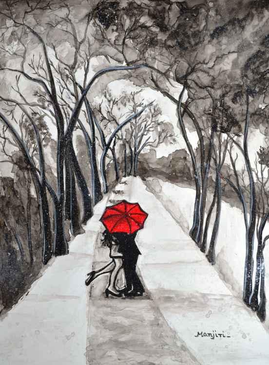 Snow Kiss romantic painting