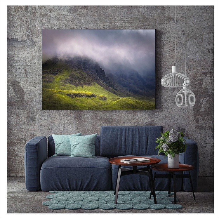 Hill of the Red Fox - Trotternish Ridge - Isle of Skye  60 x 40 inches     Ready to Hang - Image 0