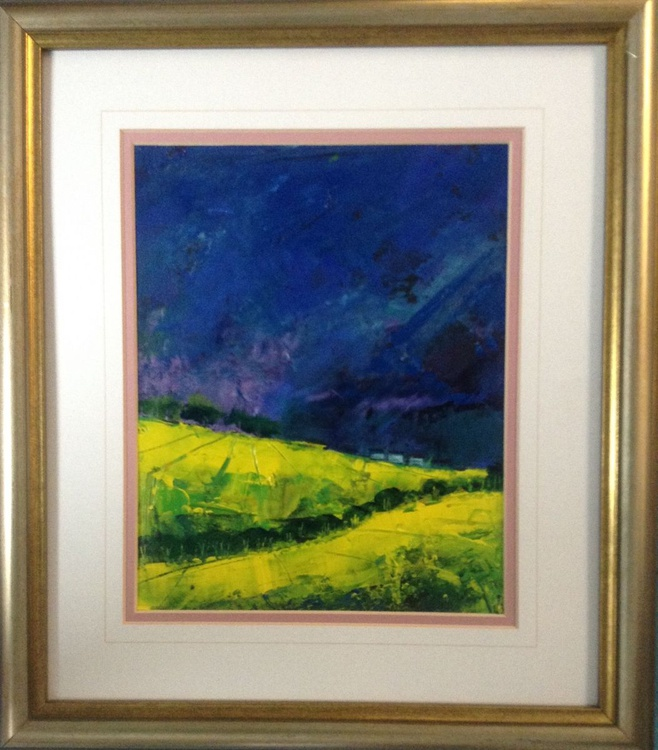 Yellow Thunder (framed original) - Image 0