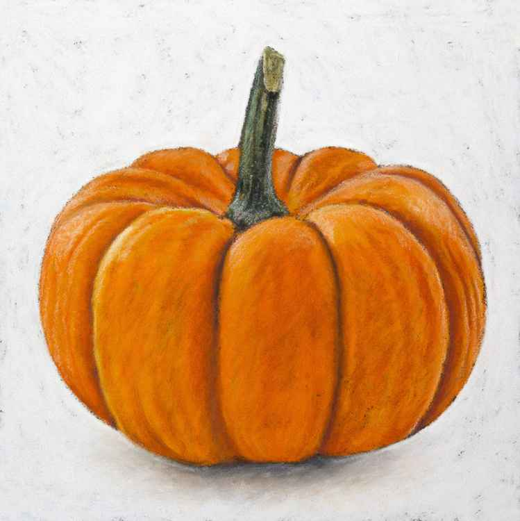 "Original pastel drawing ""Pumpkin"" -"