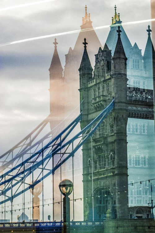 """TOWER BRIDGE DOUBLE VISION NO:2 (Limited edition  1/20 12""""X18"""") - Image 0"""