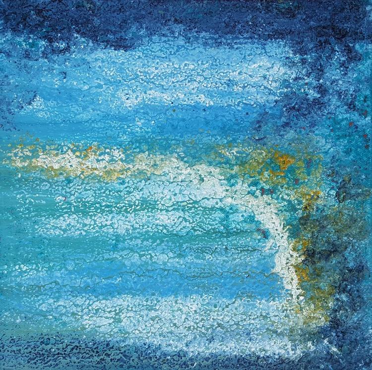 Stormy beach - 30x30cm - Image 0