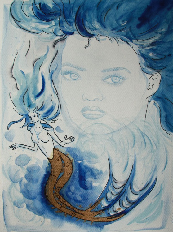 One mermaid's face - Image 0