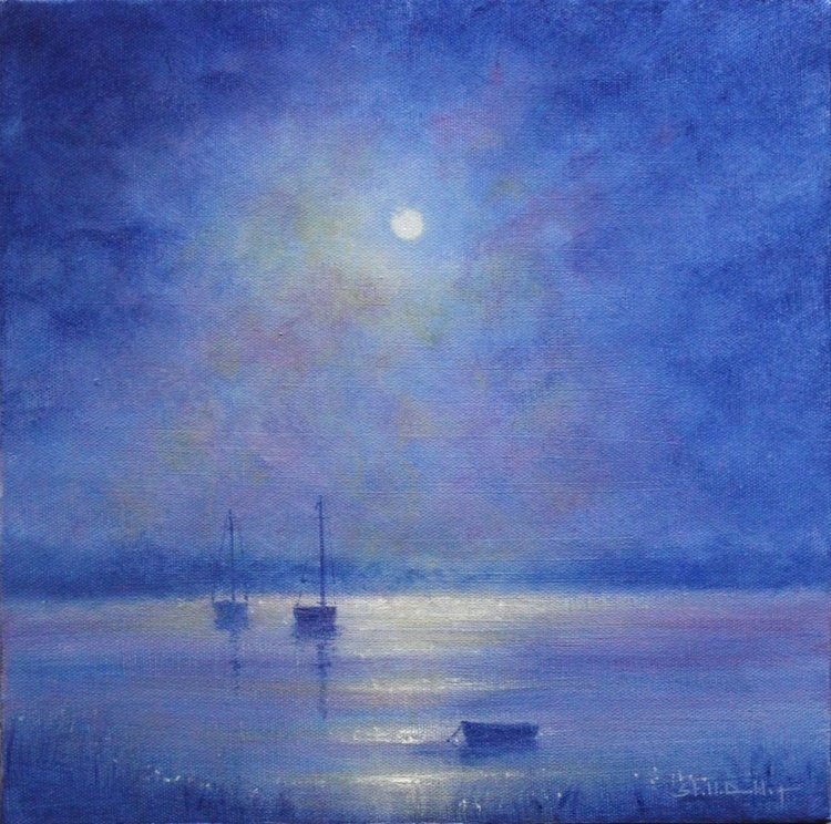 Boats By Moonlight II - Image 0