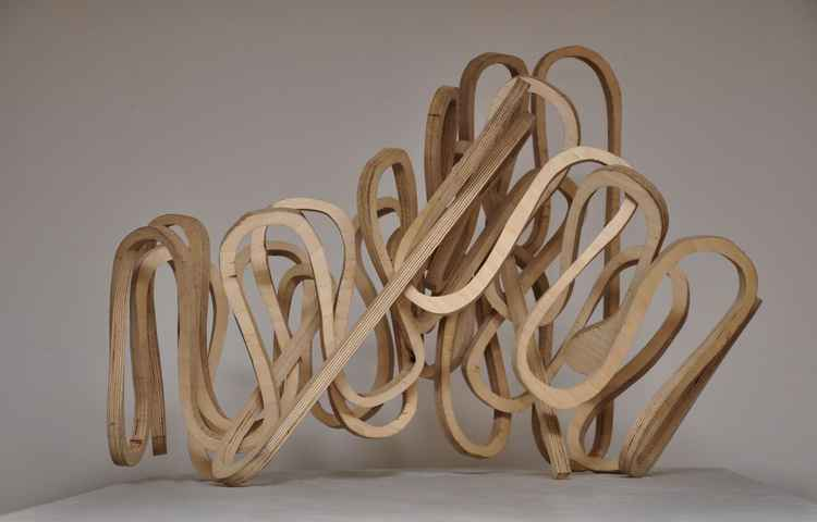 continuous line in plywood -