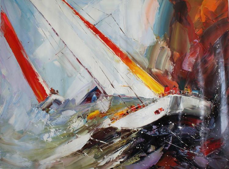 """Abstraction No. 37 """"Ship 3"""" . - Image 0"""