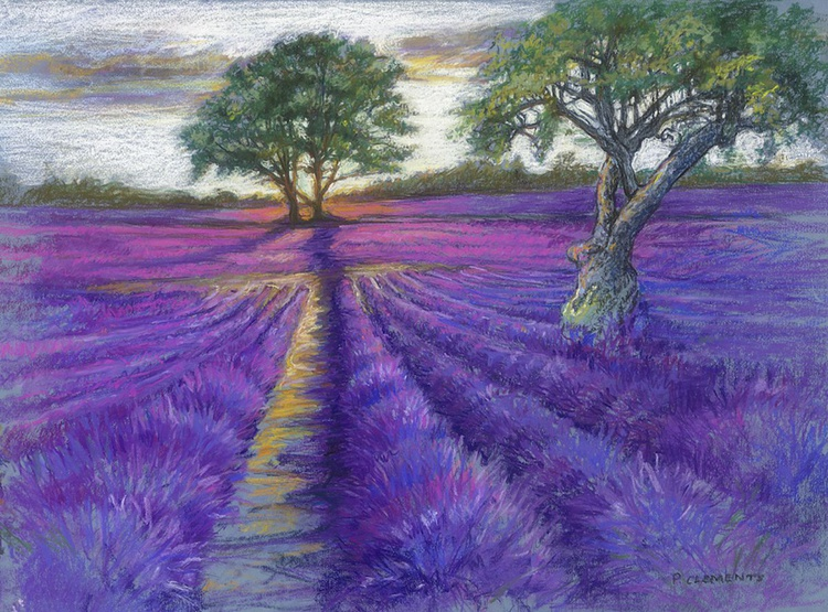 Sunsetting over Lavender Fields - Image 0