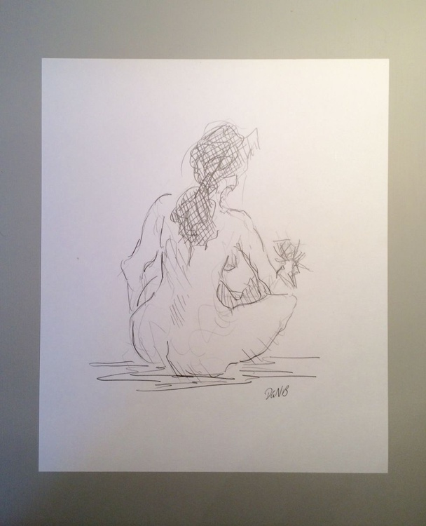 Seated Nude with Glass - Image 0