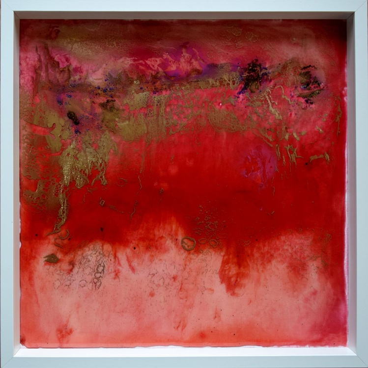 Red abstract- 50 cm x 50 cm  / Ready to hang - Image 0