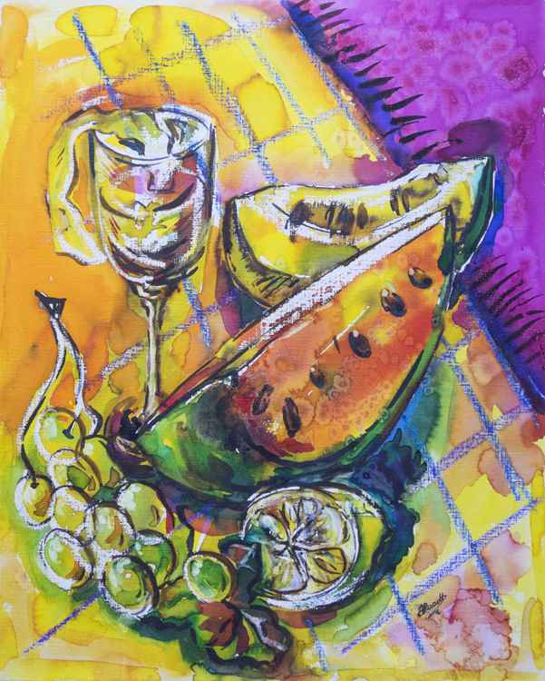 summer fruits and juice -