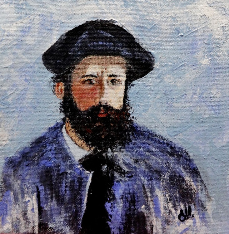 After Monet - ''Self portrait with a beret'' - Image 0