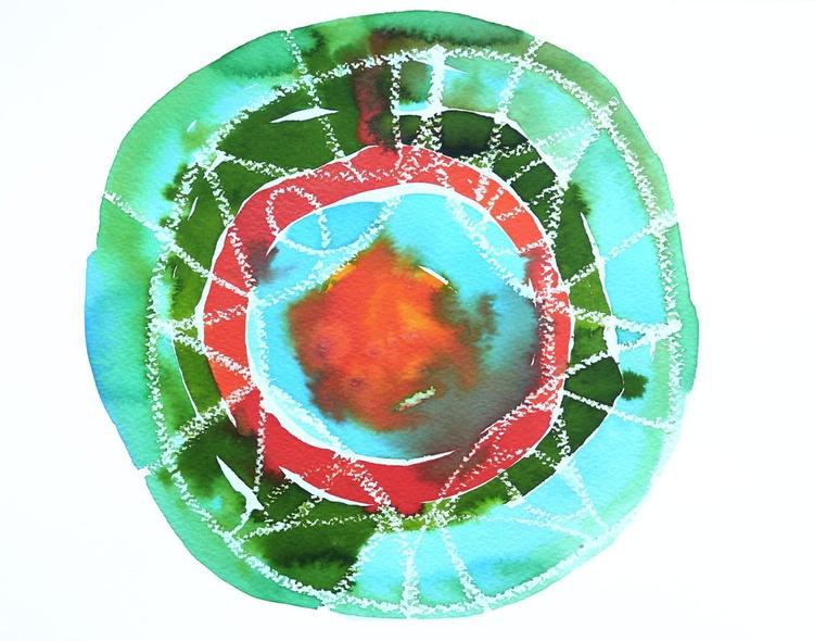 Abstract Mandala Painting - Image 0