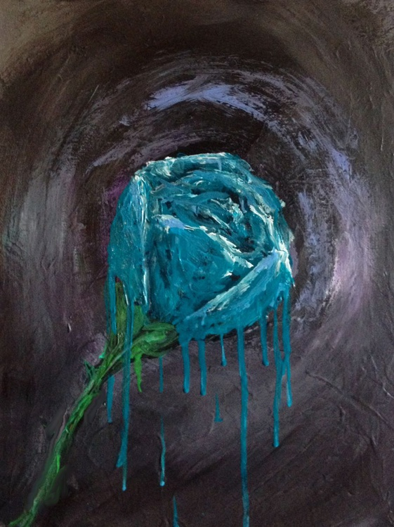 Destiny of the Turquoise Camellia - Abstract - Image 0